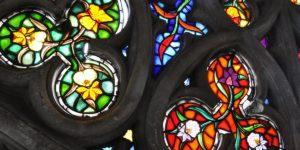 stained glass window - basilica del voto nacional