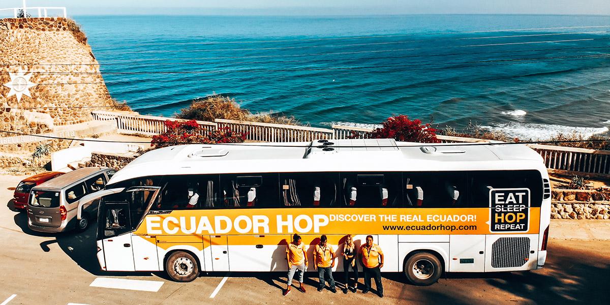ecuador hop bus from above