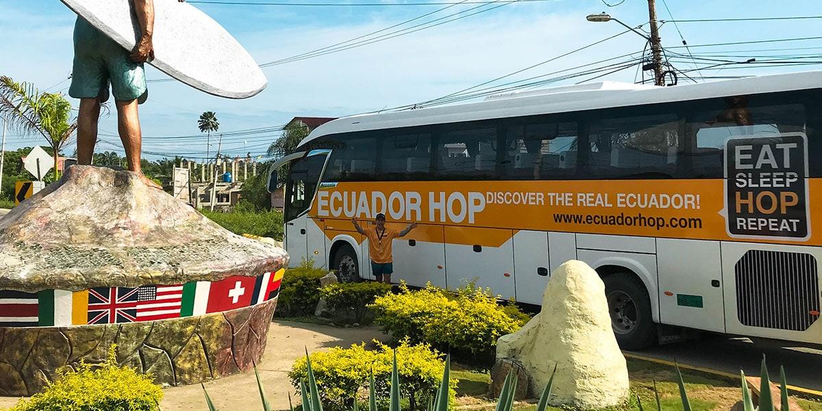 Buses in Ecuador- Ecuador hop