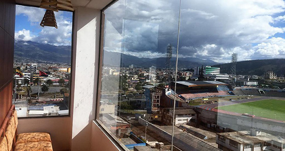 Vista do Zeus Hotel - Riobamba