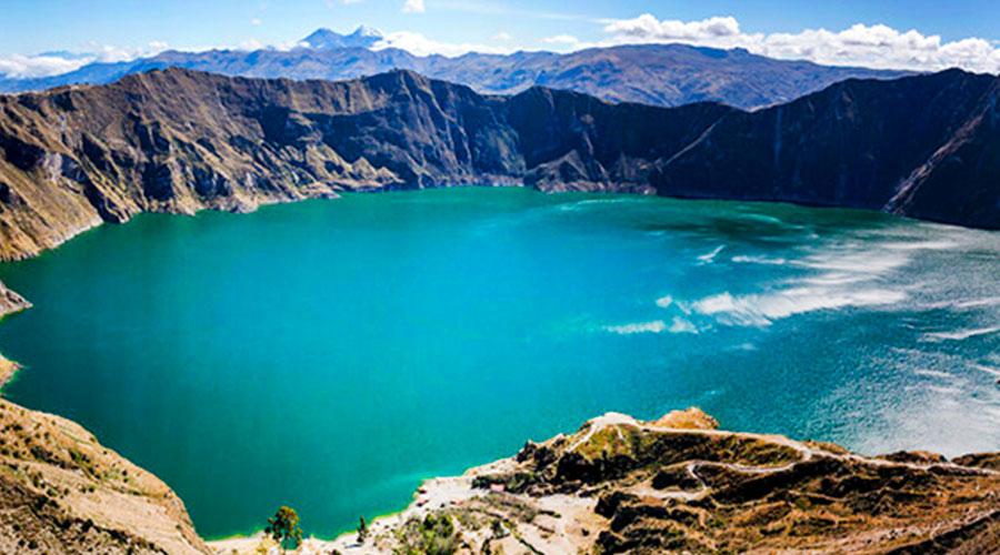 Quilotoa Lagoon in Ecuador