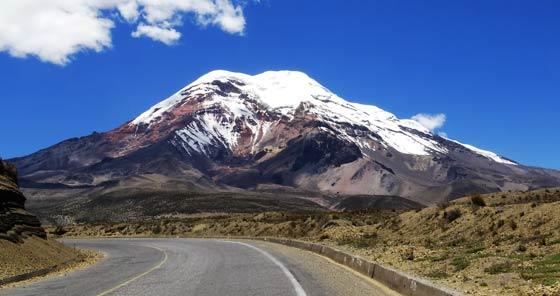 Road to Chimborazo Volcano in Ecuador