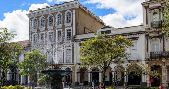 Bâtiments coloniaux à Cuenca, en Équateur