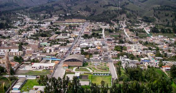 Guano town in Ecuador
