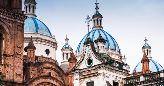 Architecture coloniale à Cuenca, en Équateur