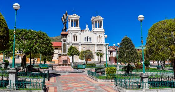 Iglesia de Alausí en Ecuador