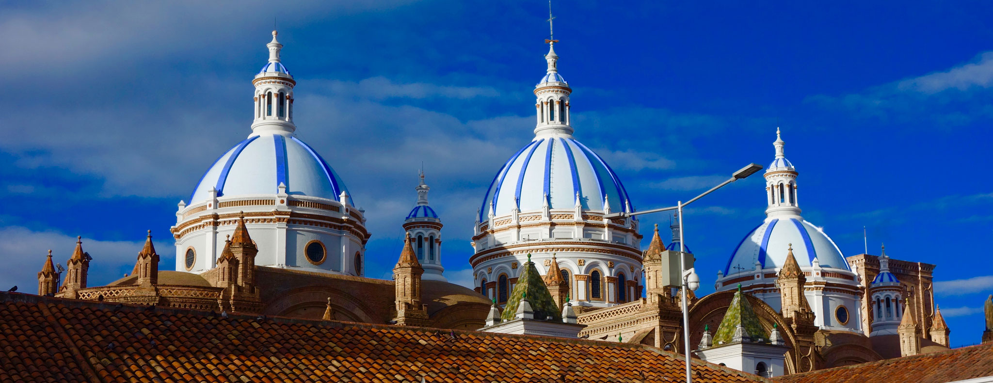 Rooftops of colonial buildings in Cuenca, Ecuador