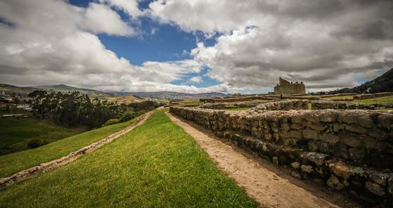 Ruines arquéologiques Incas de Ingapirca, en Équateur