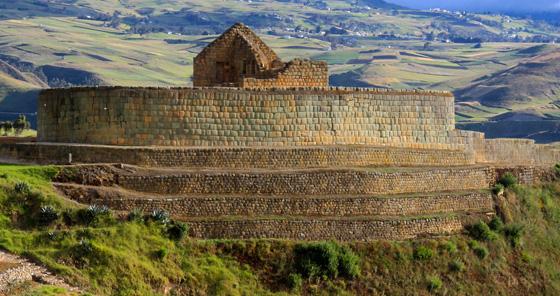 Sítio Arqueológico Ingapirca das ruínas Inca em Cuenca, Equador