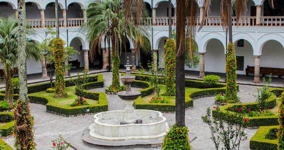 Garden of Museo de la Ciudad in Quito, Ecuador