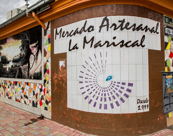 Mercado Artesanal La Mariscal in Quito, Ecuador