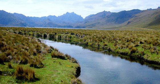 Laguna Ozogoche Alausí en Ecuador