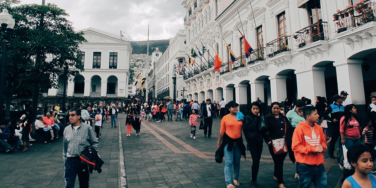 Is Ecuador Safe - People walking in Quito