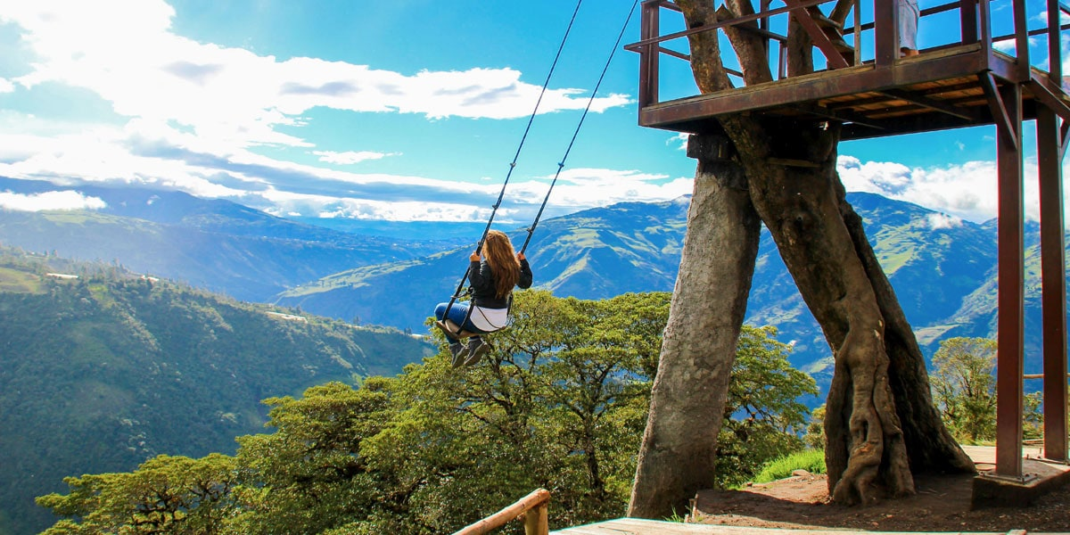 best things to do in baños- swing at the end of the world
