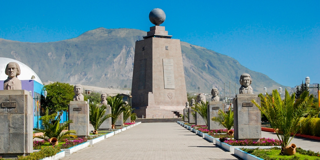 mitad del mundo monument in quito, on the equator